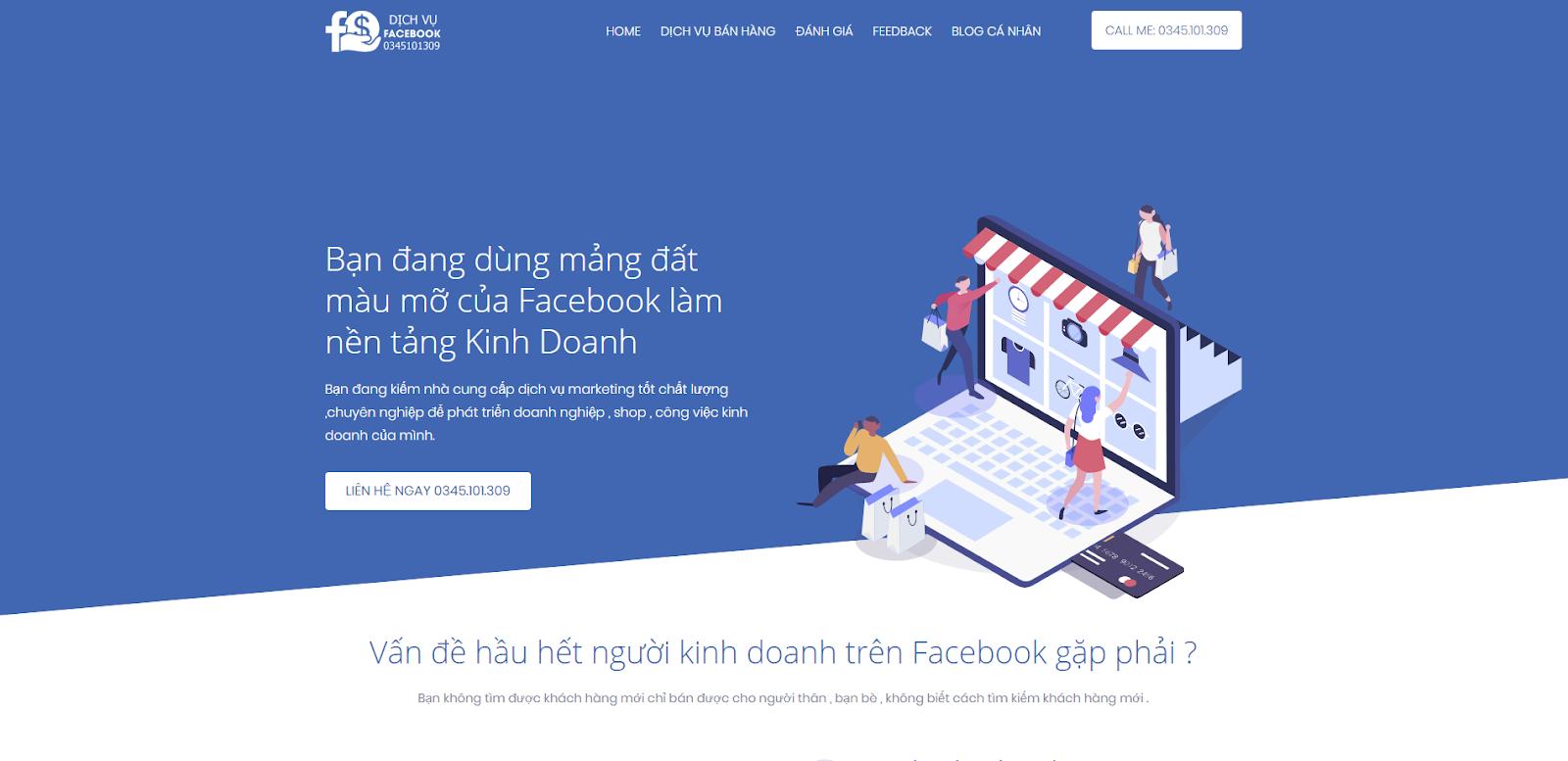 Share Template Dịch Vụ Facebook cực đẹp