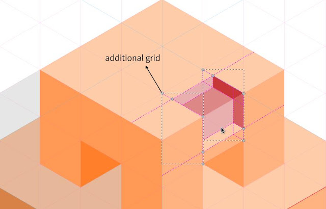 axonometric grid drawing using inkscape