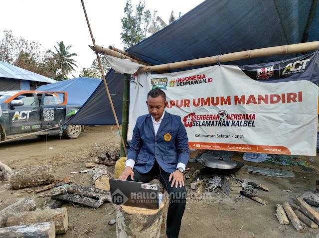 Cerita Ulil Amri, Relawan MRI asal Madiun, Jalani Yudisium di Tanah Bencana