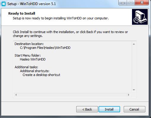 Hướng dẫn cài đặt phần mềm WinToHDD đơn giản f