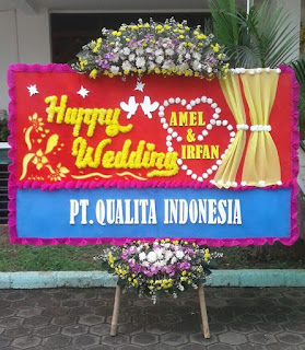 Bunga Papan Happy Wedding (WS-157)