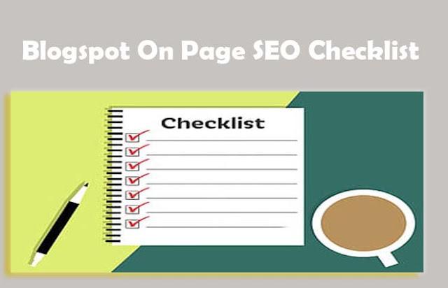 Blogspot On Page SEO Checklist