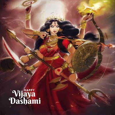 Happy Vijayadashami Wishes With Durga Maa Images