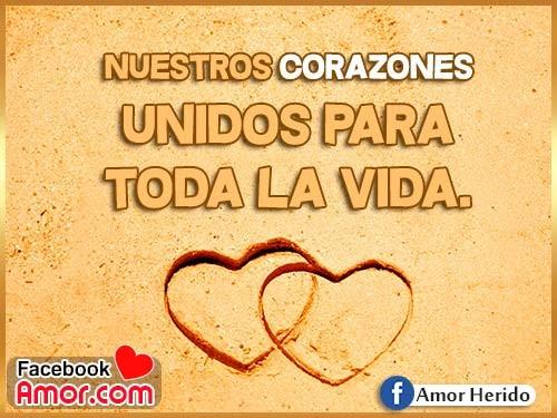 corazones de amor unidos