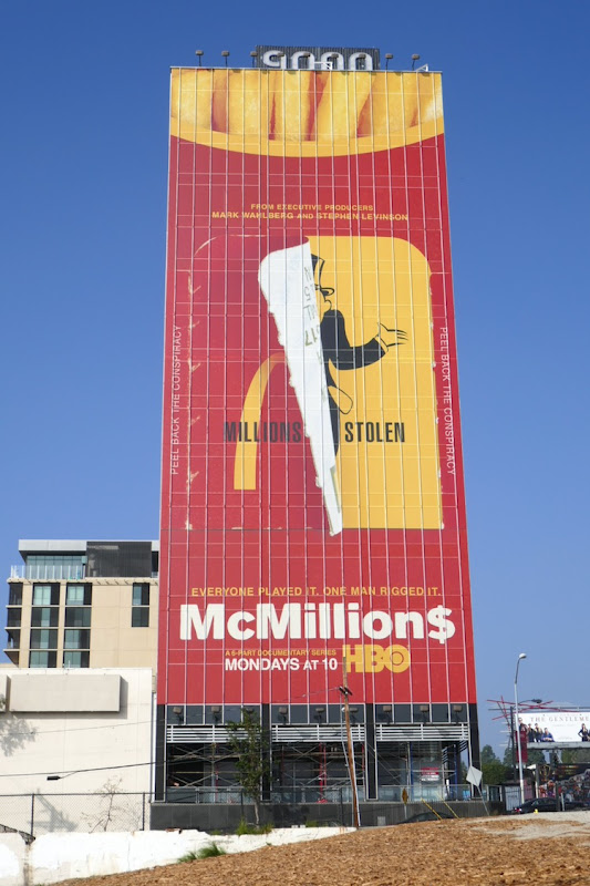 Giant McMillions HBO series billboard