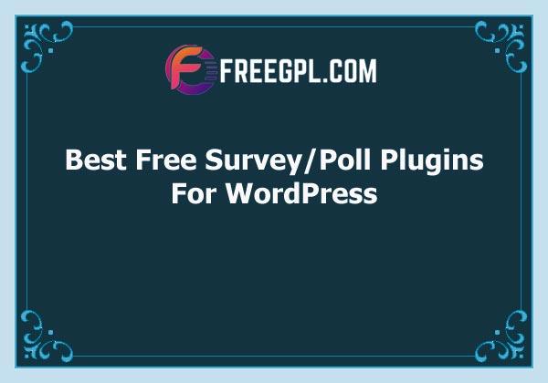 Best Free Survey/Poll WordPress Plugins