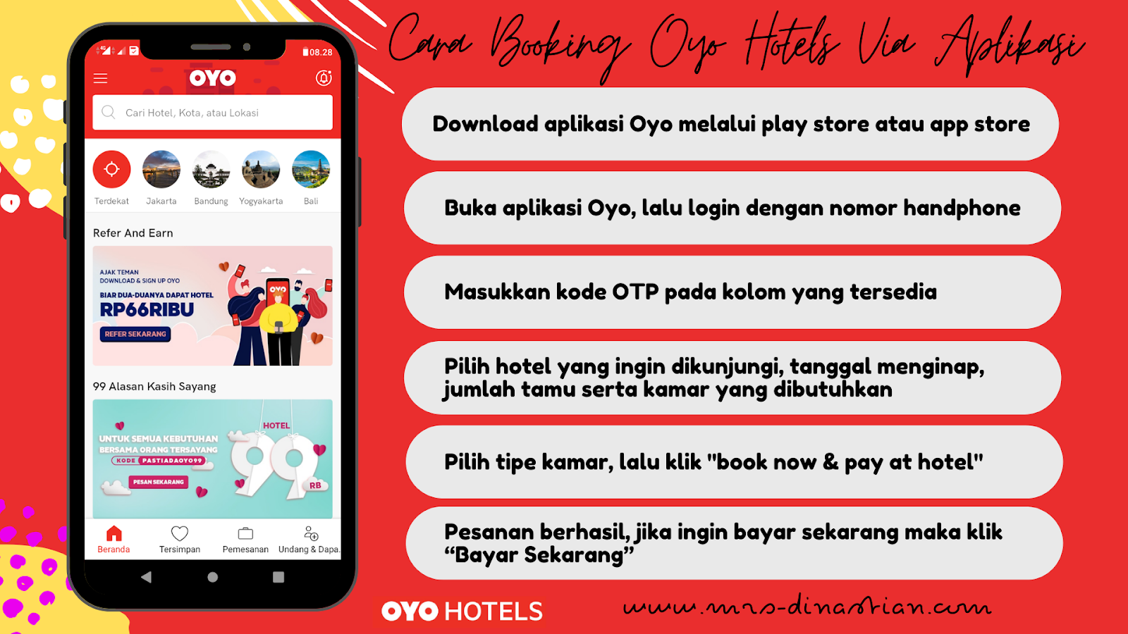 Cara Booking Oyo Hotels