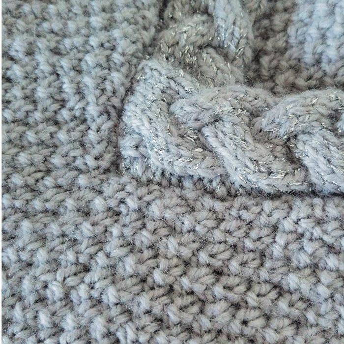 Pull grain de riz et torsades tricot - Hello c'est Marine - Chat tricote par ici