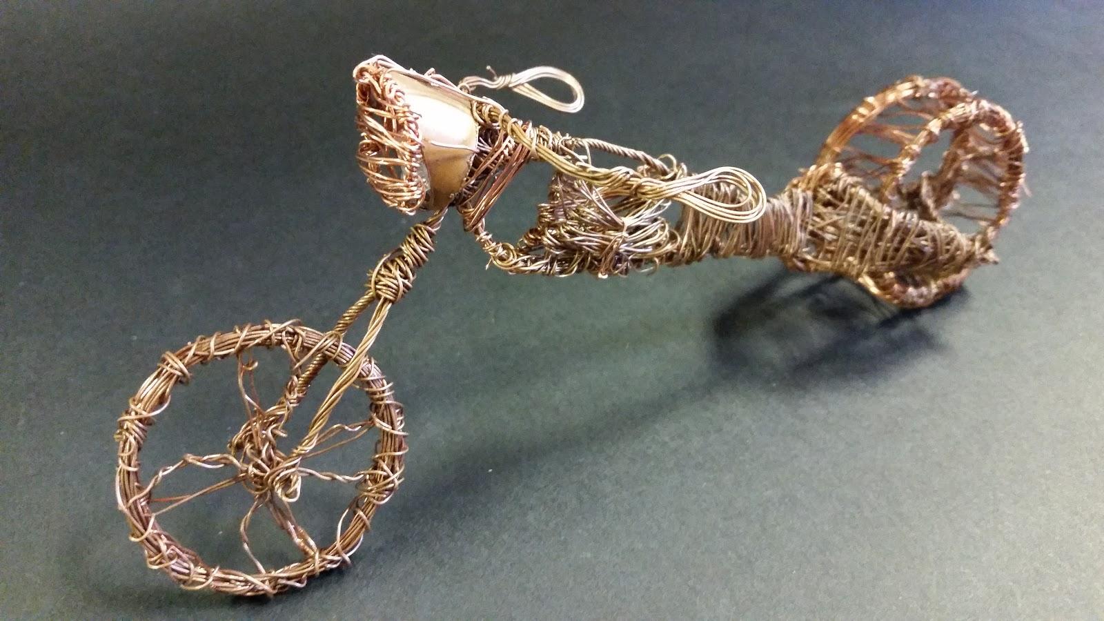 Deivi Suazo Engineering Blog: Model Copper Wire Motorcycle