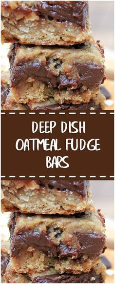 DEEP DISH OATMEAL FUDGE BARS