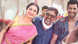 Keerthy Suresh with Vishal and Pandem Kodi 2 Director Lingu Saamy