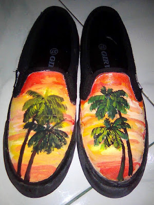 Sepatu Lukis Senja, Sepatu Lukis, Sepatu Lukis Cantik
