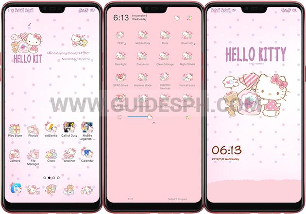 Oppo Theme: Hello Kitty Theme Free Download