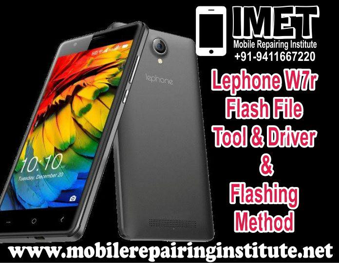 Lephone W7r Flash File Tool Driver & Flashing Method