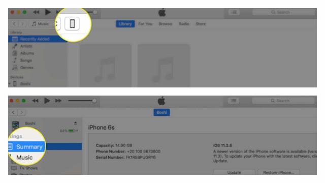 طريقة عمل ريستور للايفون والايباد عن طريق الايتونز iTunes