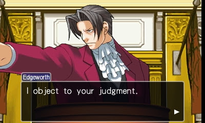 Phoenix Wright Ace Attorney Miles Edgeworth objection witness stand