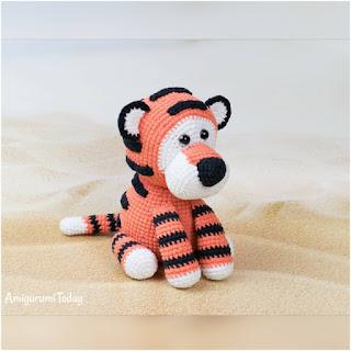 patron amigurumi Romeo, el tigre amigurumi today