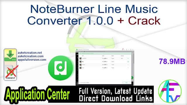 NoteBurner Line Music Converter 1.0.0 + Crack