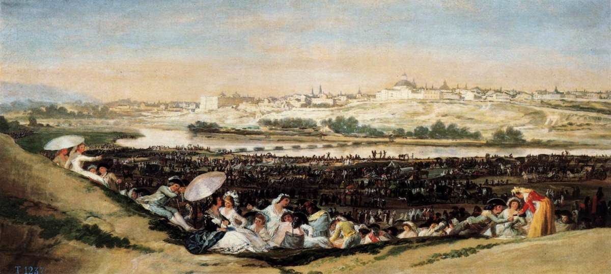 O Prado de San Isido no Dia da Festa - Goya, Francisco e suas pinturas ~ Foi um importante pintor espanhol da fase do Romantismo