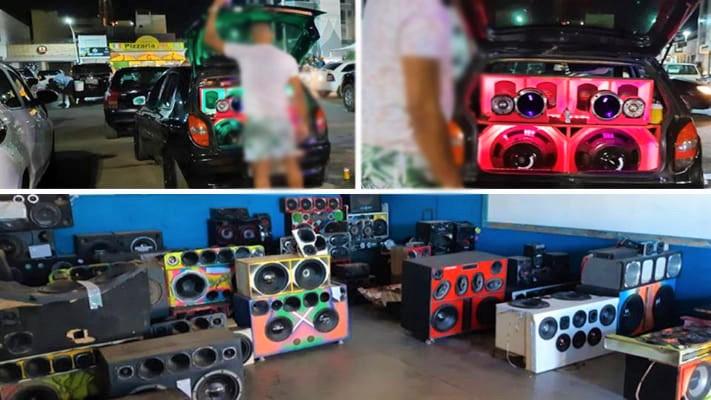 Diversos equipamentos de som são apreendidos em Barreiras