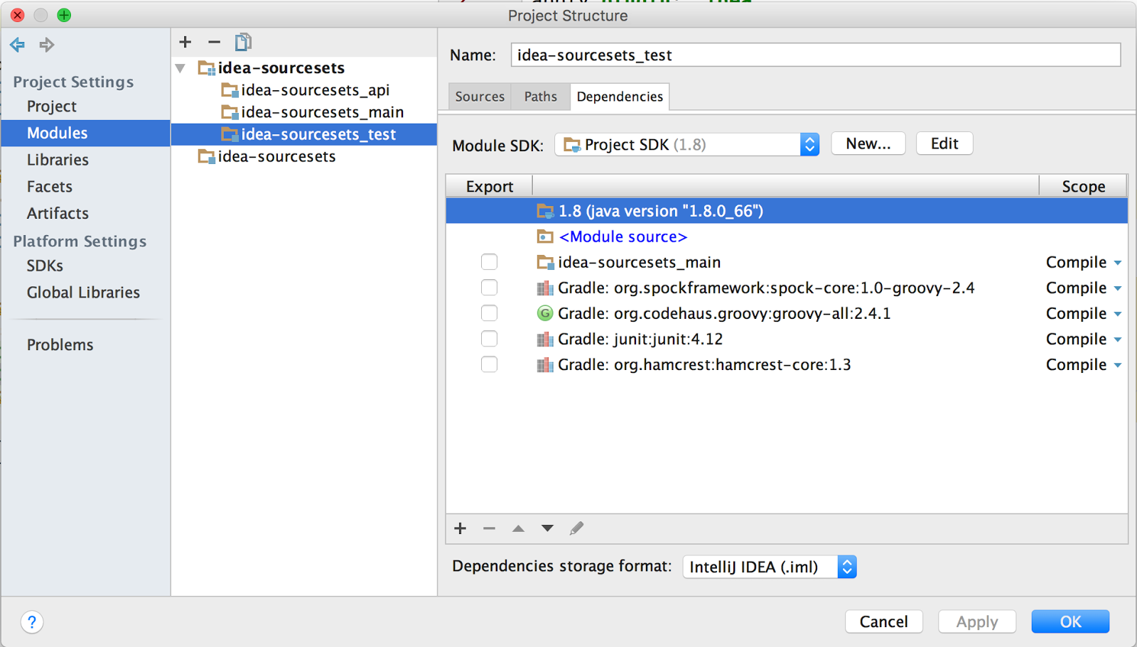 Gradle Goodness: Source Sets As IntelliJ IDEA Modules - Messages