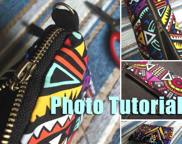 Bag with geometric pattern. DIY step-by-step tutorial. Сумочка с геометрическим рисунком