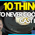 10 Things You Should Never Cook in a Cast Iron Pan