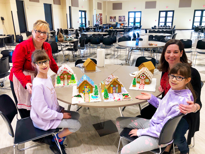 Scenes from a Gingerbread House Decorating Event