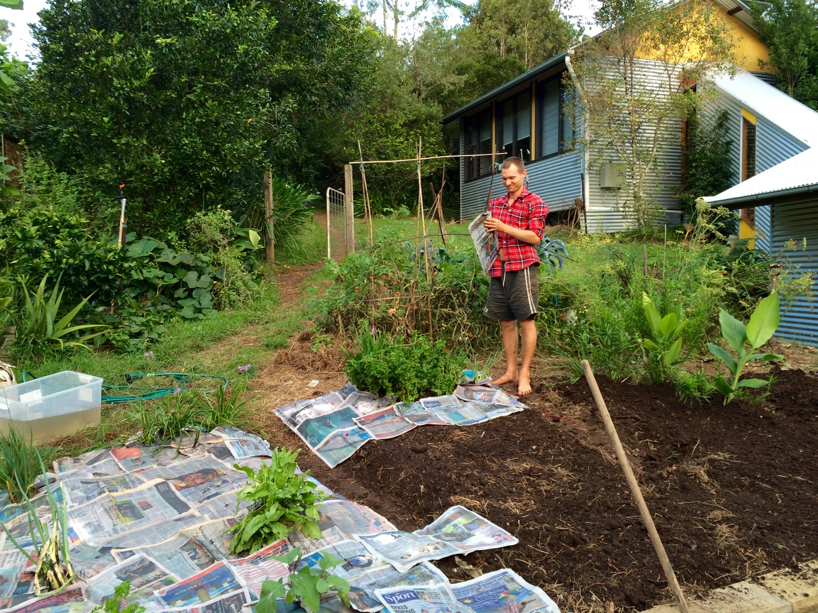 our permaculture life barefoot gardening on a sunday afternoon