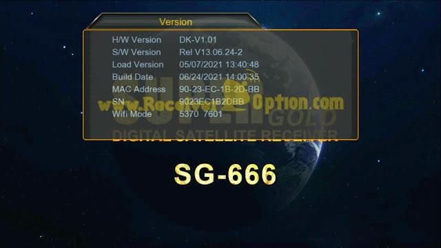 SUPERGOLD SG-666 1507G 1G 8M NEW SOFTWARE WITH GO SAT PLUS V2 & G SHARE PLUS V2 OPTION 24 JUNE 2021
