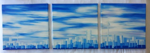 Joburg skyline art