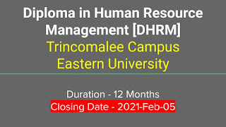 Diploma IN Human Resource Management(DHRM) Trincomalee Campus