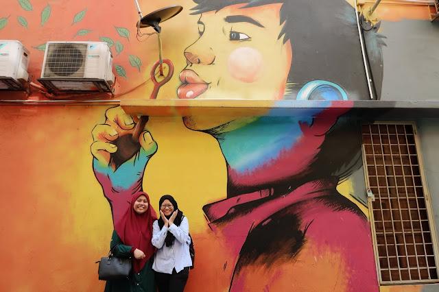 Madihah and I @ Jalan Alor, Bukit Bintang, Kuala Lumpur, Malaysia