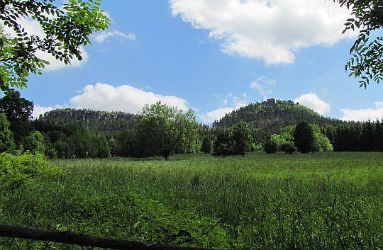 Skaj łąk z widokiem na Szczelińce.