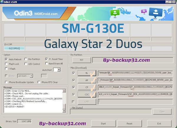 سوفت وير هاتف Galaxy Star 2 Duos موديل SM-G130E روم الاصلاح 4 ملفات تحميل مباشر