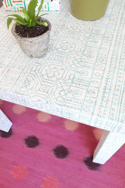 Make a fabric wrapped side table | ikea hacks