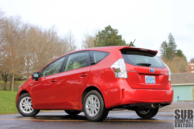 2012 Toyota Prius v back end - Subcompact Culture
