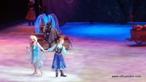 Elsa and Anna Disney on Ice
