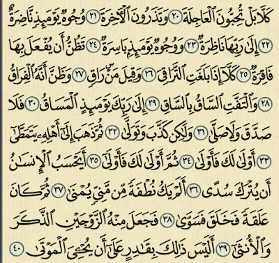 شرح وتفسير سورة القيامة surah Al-Qiyama,