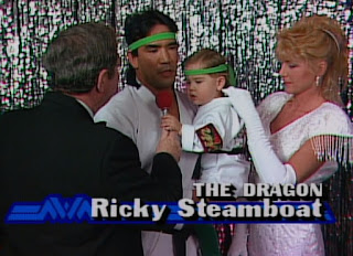 NWA Chi-Town Rumble 1989 - Ricky 'The Dragon' Steamboat was a family man