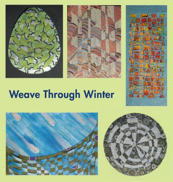 five examples of paper weaving