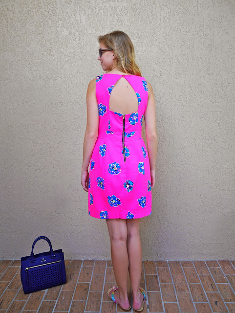 cutout dress lilly pulitzer kate spade navy bubbles