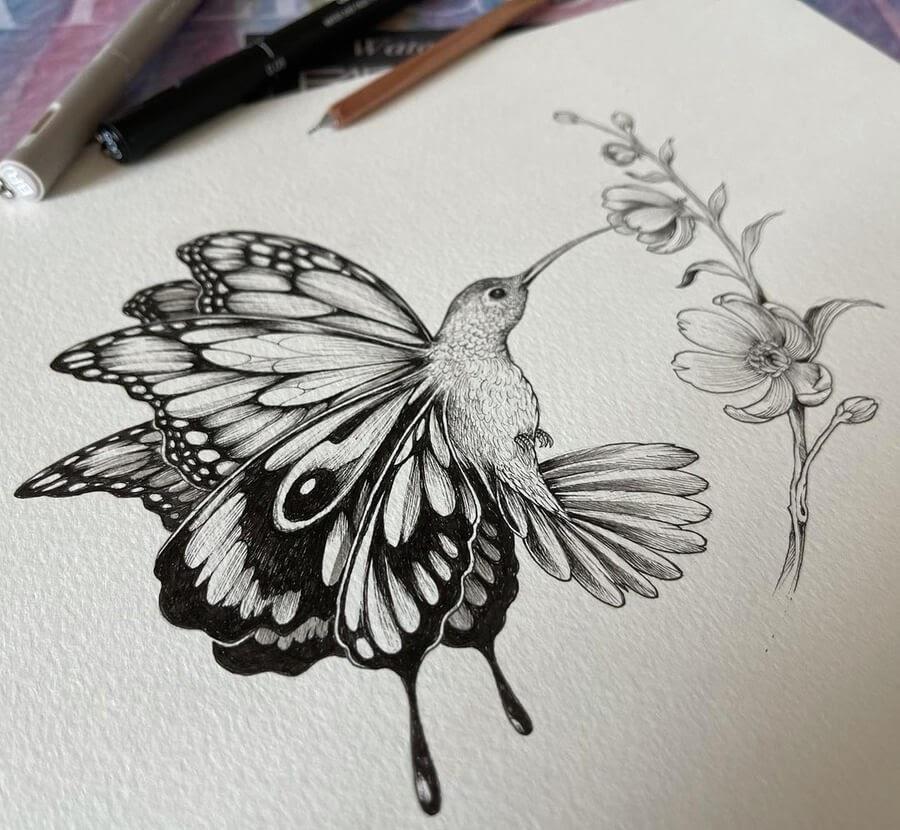 03-A-butterfly-hummingbird-Kerby-Rosanes-www-designstack-co