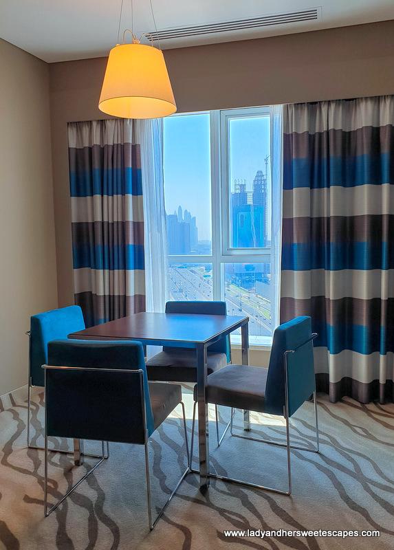Novotel Al Barsha hotel room view