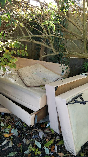 Fly tipped bed