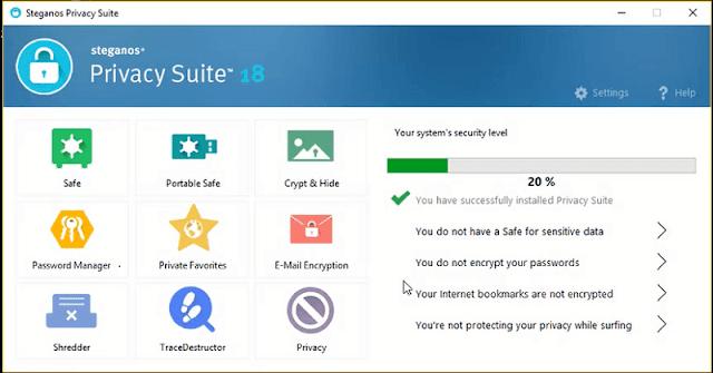 أفضل وأخطر برامج الكمبيوتر برنامج Steganos Privacy Suite 19 مع مفتاح تفعيل قانوني عرض محدود