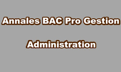 Annales BAC Pro Gestion Administration