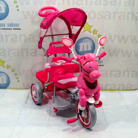 sepeda roda tiga family kuda musik dobel