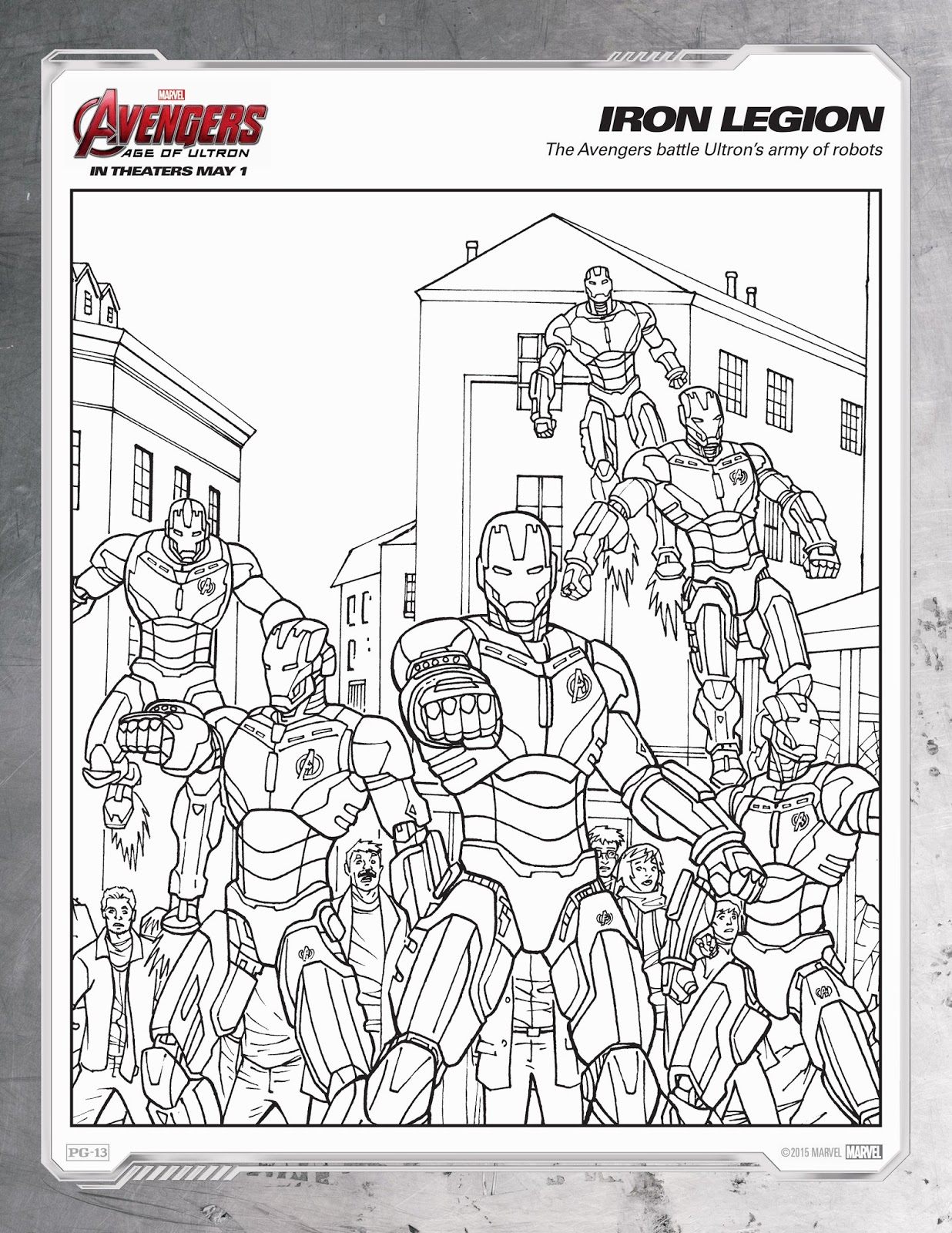 Ausmalbilder Racher The Avengers Age Of Ultron