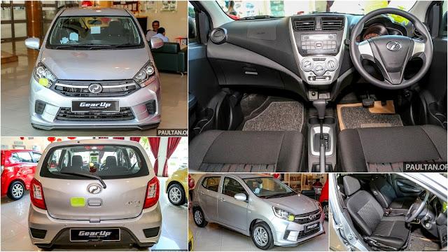 Perodua Axia Baru 2017 (Facelift) - Standard E dan G